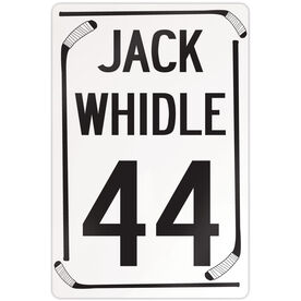 """Hockey Aluminum Room Sign Personalized Speed Limit (18"""" X 12"""")"""