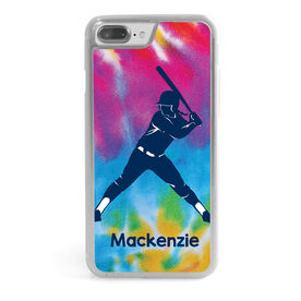 Softball iPhone® Case - Personalized Batter With Tie Dye