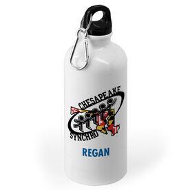 20 oz. Stainless Steel Water Bottle - Chesapeake Synchronized Skating Logo Name