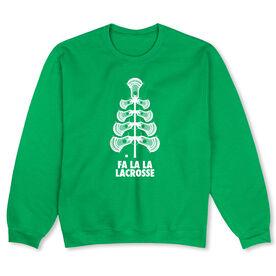 Guys Lacrosse Crew Neck Sweatshirt - Fa La La Tree