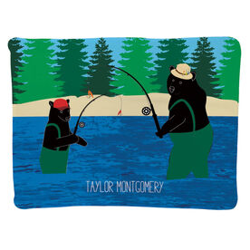 Fly Fishing Baby Blanket - Bears