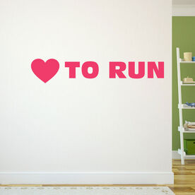Heart to Run Removable GoneForARunGraphix Wall Decal
