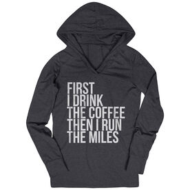 Women's Running Lightweight Performance Hoodie - Then I Run The Miles