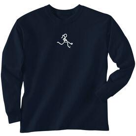 Field Hockey T-Shirt Long Sleeve Field Hockey Girl White Stick Figure No Word