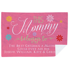 Personalized Premium Blanket - This Mommy Belongs To
