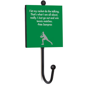 Tennis Medal Hook - Your Quote Male