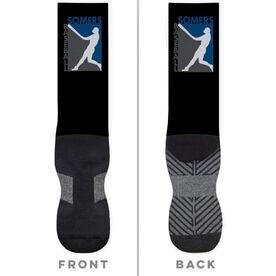 Baseball Printed Mid-Calf Socks - Your Logo