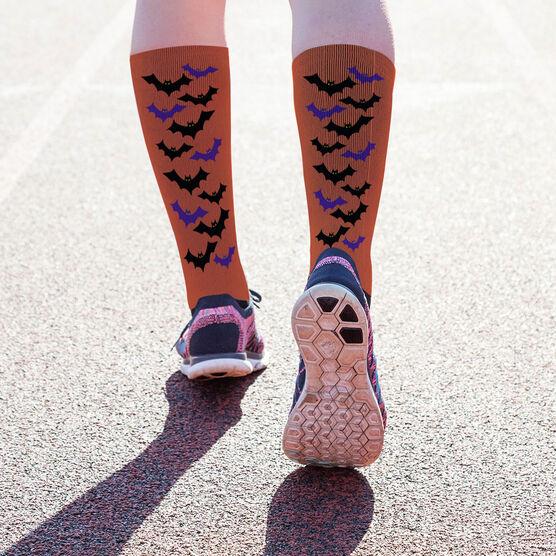 Printed Mid-Calf Socks - Bats