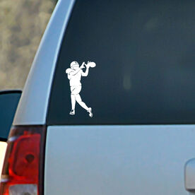 Vinyl Car Decal Football Wide Receiver Silhouette