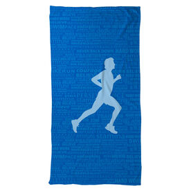 Running Beach Towel Inspiration Male