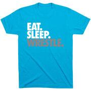 Wrestling T-shirt Short Sleeve Eat. Sleep. Wrestle.