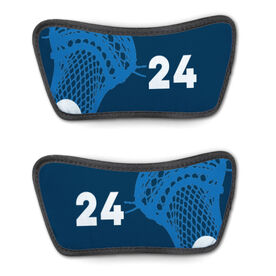 Guys Lacrosse Repwell® Sandal Straps - Stick and Number Reflected