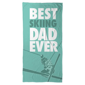 Skiing Beach Towel Best Dad Ever