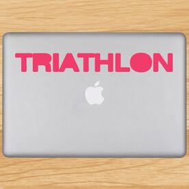 Triathlon Word Removable TRIForeverGraphix Laptop Decal
