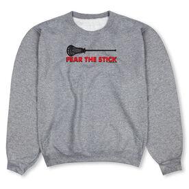 Guys Lacrosse Crew Neck Sweatshirt - Fear The Stick Lacrosse