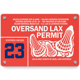 Lacrosse Metal Wall Art Panel - Oversand Permit