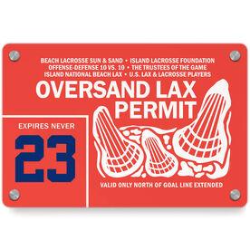 Lacrosse Metal Wall Art Panel - Oversand Permit