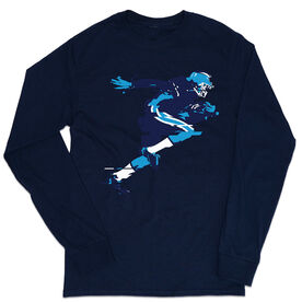 Football Tshirt Long Sleeve - In the Blur of A Moment