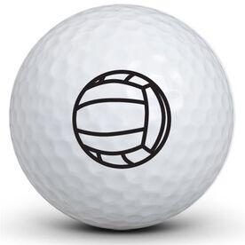 Volleyball Logo Golf Balls