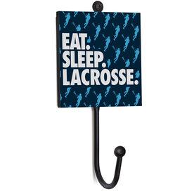 Girls Lacrosse Medal Hook - Eat. Sleep. Lacrosse.