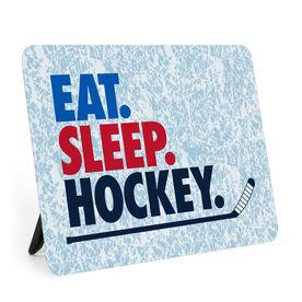 Hockey Desk Art - Eat. Sleep. Hockey.