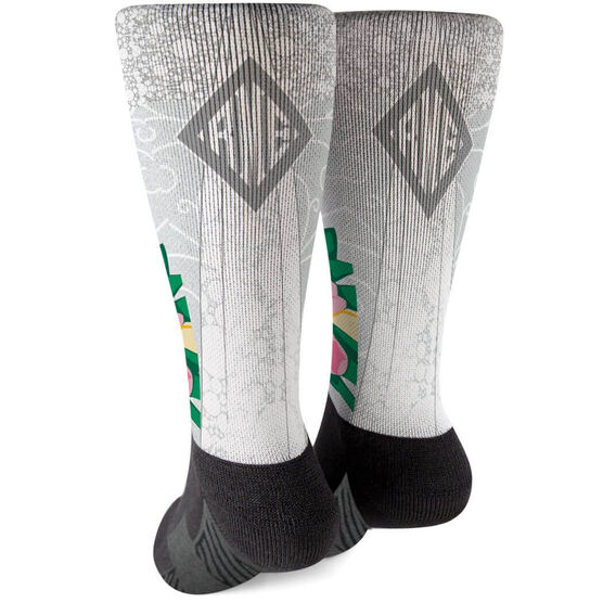 Personalized Printed Mid-Calf Socks - Here Comes The Bride