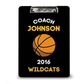 Basketball Custom Clipboard Basketball Coach with Basketball Icon