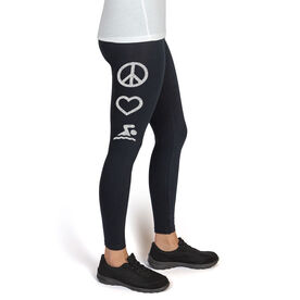 Swim High Print Leggings Peace Love Swim