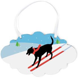 Skiing Cloud Sign - Vintage Dog