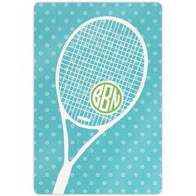 "Tennis Aluminum Room Sign Monogrammed Tennis Life (18"" x 12"")"