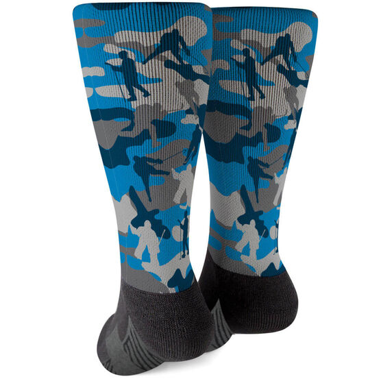 Hockey Printed Mid-Calf Socks - Camo