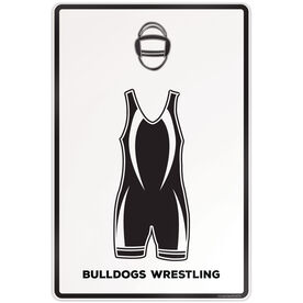 "Wrestling Aluminum Room Sign (18""x12"") Work Clothes"