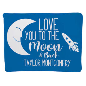 Personalized Baby Blanket - To The Moon And Back