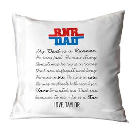 Running Throw Pillow - My Dad Is A Runner