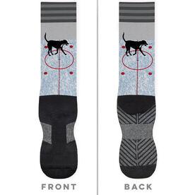 Hockey Printed Mid-Calf Socks - Howe The Hockey Dog