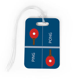 Ping Pong Bag/Luggage Tag - Ping Pong Table