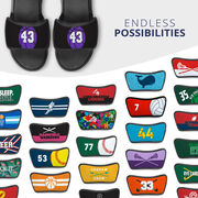 Basketball Repwell® Sandal Straps - Basketball With Number
