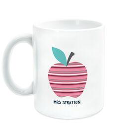 Teacher Coffee Mug - Striped Apple