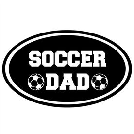 Soccer Dad Oval Vinyl Decal