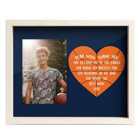 Basketball Premier Frame - Dear Mom Heart