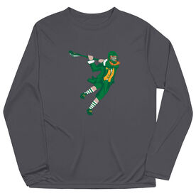 Guys Lacrosse Long Sleeve Performance Tee - St. Hat-Tricks