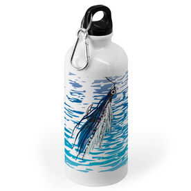 Fly Fishing 20 oz. Stainless Steel Water Bottle - Watercolor Clouser