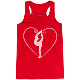 Figure Skating Flowy Racerback Tank Top - Heart Skater
