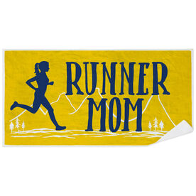 Running Premium Beach Towel - Runner Mom