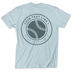 Vintage Softball T-Shirt - Personalized Distressed