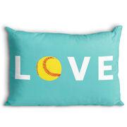Softball Pillowcase - Love
