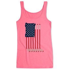Hockey Women's Athletic Tank Top - American Flag