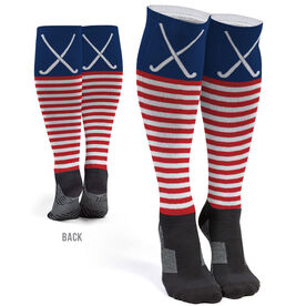 Field Hockey Printed Knee-High Socks - Patriotic Stripes