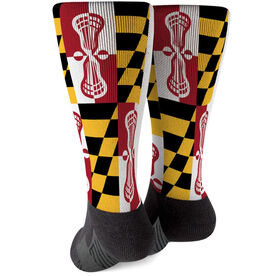 Guys Lacrosse Printed Mid-Calf Socks - Maryland