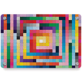 Running Metal Wall Art Panel - Squares Colorful